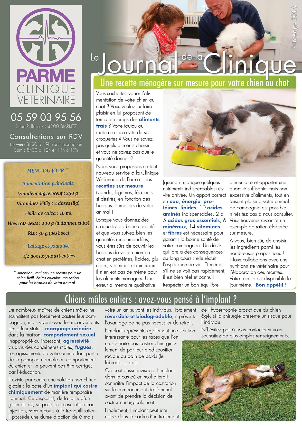 Journal de la Clinique - Printemps 2018 page 1